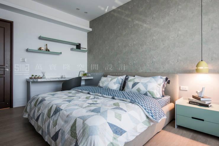 台邦建設-悅世界/丰悅煙景:  臥室 by SING萬寶隆空間設計,