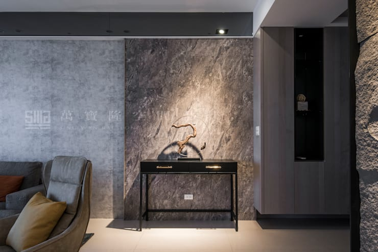 台邦建設-悅世界/丰悅煙景:  走廊 & 玄關 by SING萬寶隆空間設計,