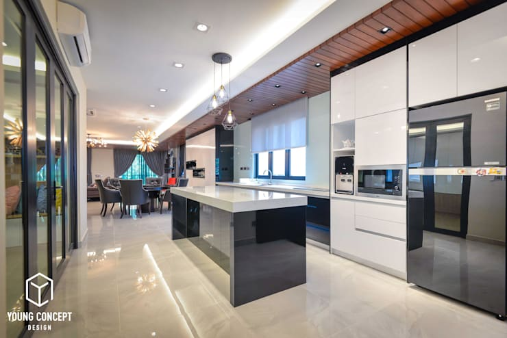 Semi-D @ Bukit Segar :  Kitchen by Young Concept Design Sdn Bhd, Modern