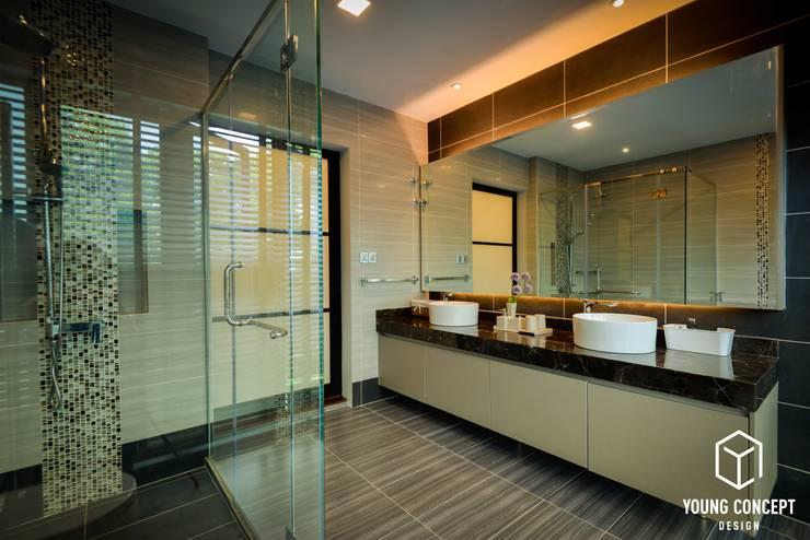 Semi-D @ Bukit Segar :  Bathroom by Young Concept Design Sdn Bhd, Modern