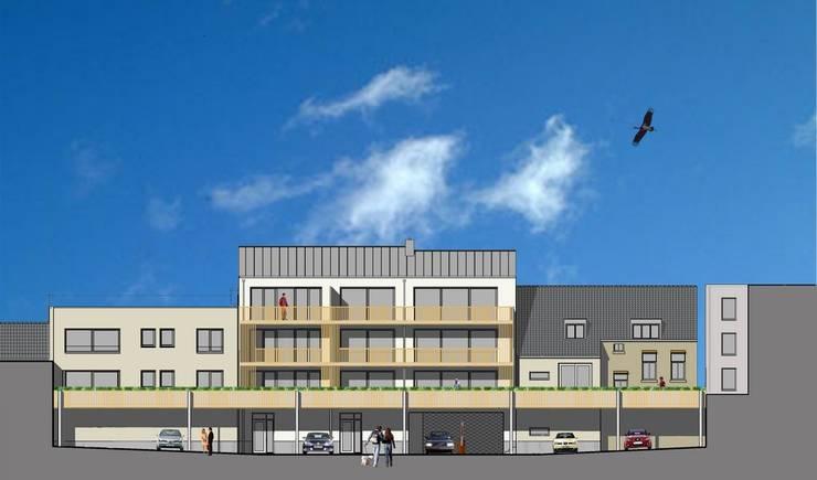 Winkels en appartementen, Valkenburg a/d Geul:  Huizen door Verheij Architecten BNA