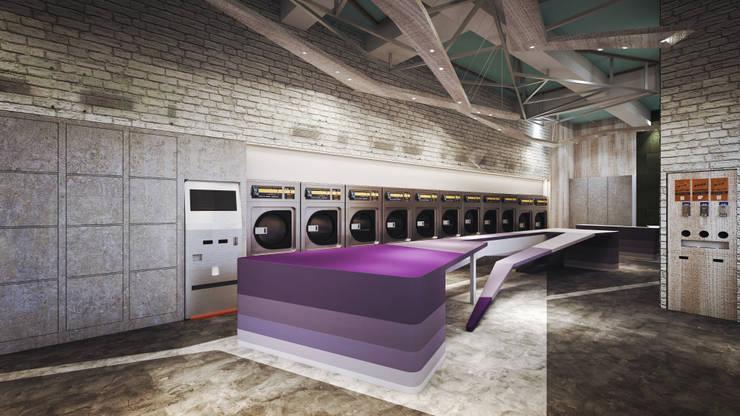 獨一無二的紫漸色折衣台:  客廳 by 司創仁和匯鉅設計有限公司,