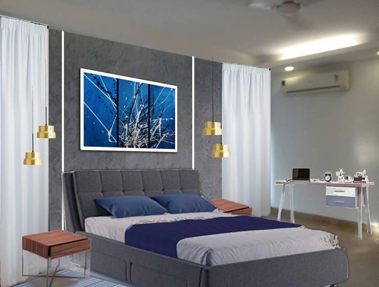 ANAND HOUSE, NEW DELHI:  Bedroom by be ZEN Design, Modern