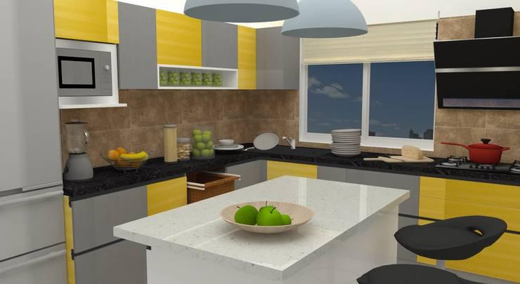 GUDIPATI HOUSE, HITECH CITY, HYDERABAD:  Kitchen by be ZEN Design, Modern