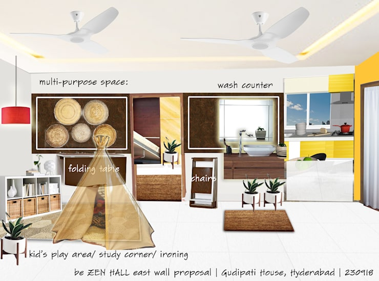 GUDIPATI HOUSE, HITECH CITY, HYDERABAD:  Media room by be ZEN Design, Modern