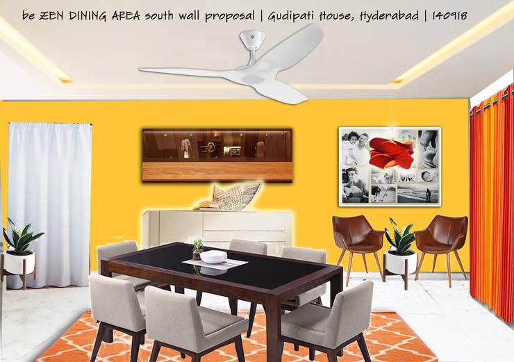 GUDIPATI HOUSE, HITECH CITY, HYDERABAD:  Dining room by be ZEN Design, Modern