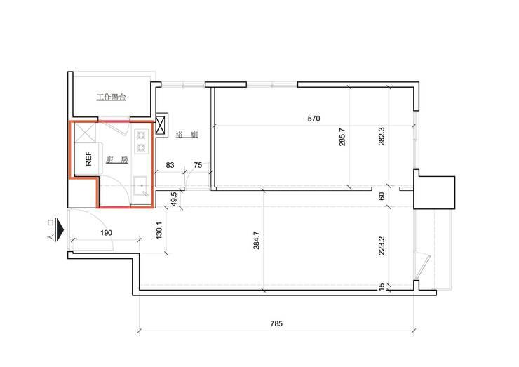 廚房防火區劃平面圖2:   by Unicorn Design,