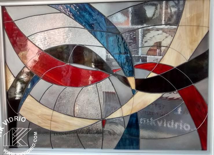 Listones II:  de estilo  por MKVidrio, Moderno Vidrio