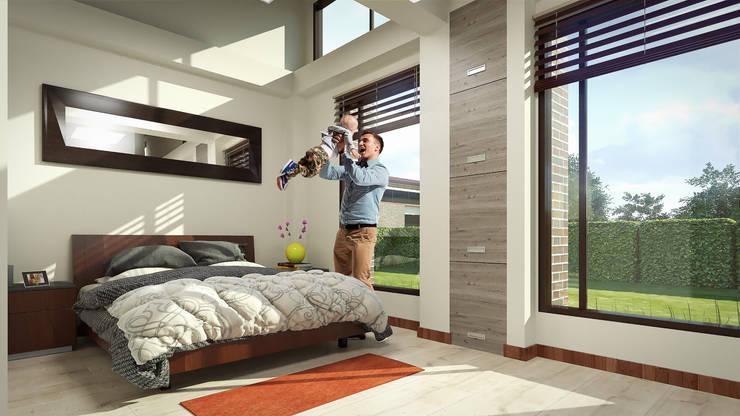 Vista Habitación P. : Habitaciones de estilo  por Solsiem Constructora SAS,