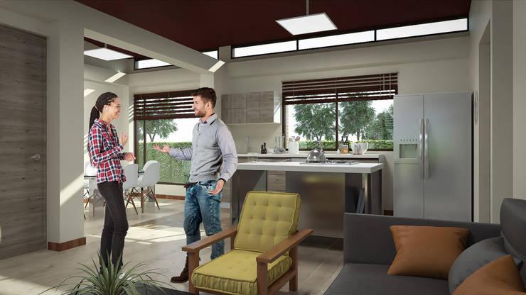 Vista Zonas Sociales 1: Cocinas de estilo  por Solsiem Constructora SAS,