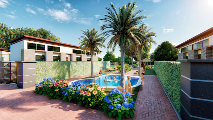 Propuesta Urbanística 1: Casas campestres de estilo  por Solsiem Constructora SAS,