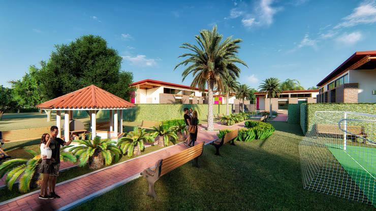 Propuesta Urbanística 2: Conjunto residencial de estilo  por Solsiem Constructora SAS,