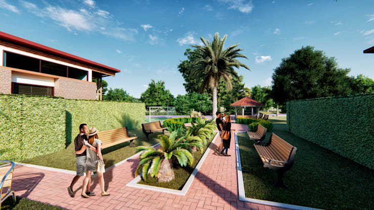 Propuesta Urbanística 3: Conjunto residencial de estilo  por Solsiem Constructora SAS,