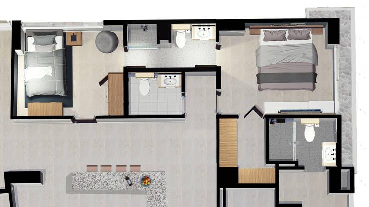 Remodelación Apartamento Le Mirage:  de estilo  por Visualizacion Arquitectura,