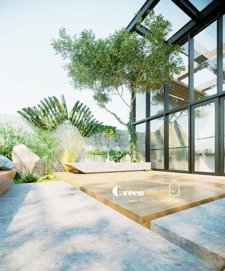 NHÀ PHỐ CAO BẰNG TRÀN NGẬP ÁNH SÁNG :  Nhà by Green Interior