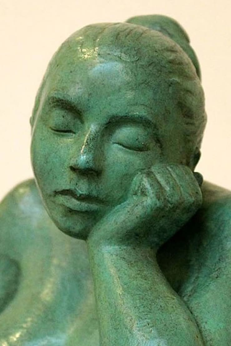 Figurative bronze sculpture:  Living room by Marie Smith, Modern