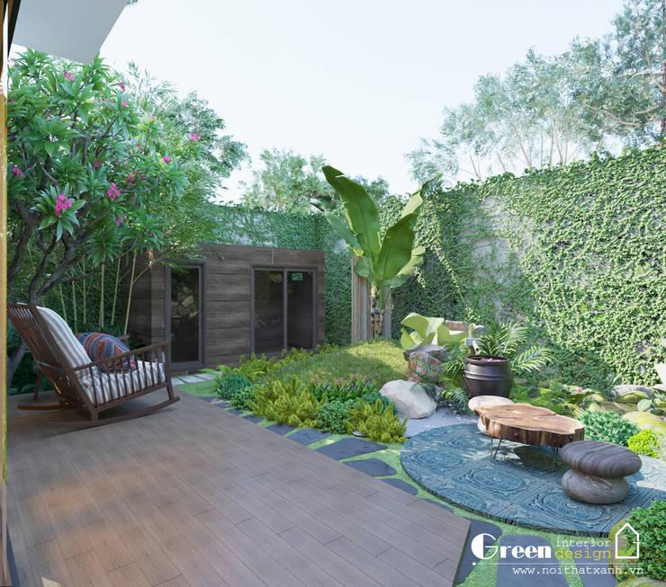 THIẾT KẾ BIỆT THỰ SÂN VƯỜN ECOPARK – THÁCH THỨC MỌI GIỚI HẠN:  Vườn by Green Interior