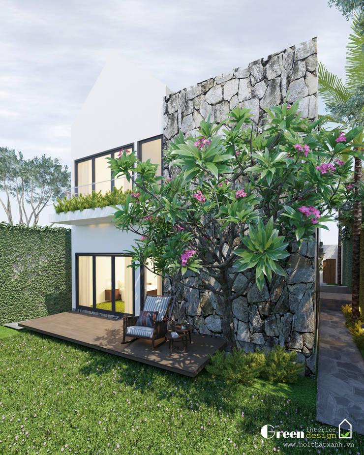 THIẾT KẾ BIỆT THỰ SÂN VƯỜN ECOPARK – THÁCH THỨC MỌI GIỚI HẠN:  Nhà by Green Interior