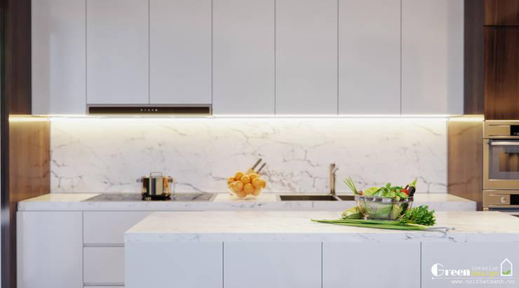 """LỘ DIỆN THIẾT KẾ """"NHÀ NGƯỜI TA"""" BẢN GIAO HƯỞNG XANH GIỮA LÒNG GREEN BAY:  Kitchen by Green Interior"""
