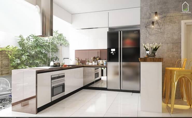 BIỆT THỰ VINHOME THĂNG LONG XANH NGÁT GIỮA LÒNG HÀ NỘI:  Kitchen by Green Interior