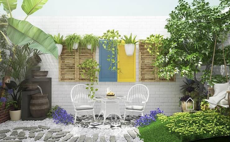 BIỆT THỰ VINHOME THĂNG LONG XANH NGÁT GIỮA LÒNG HÀ NỘI:  Garden  by Green Interior