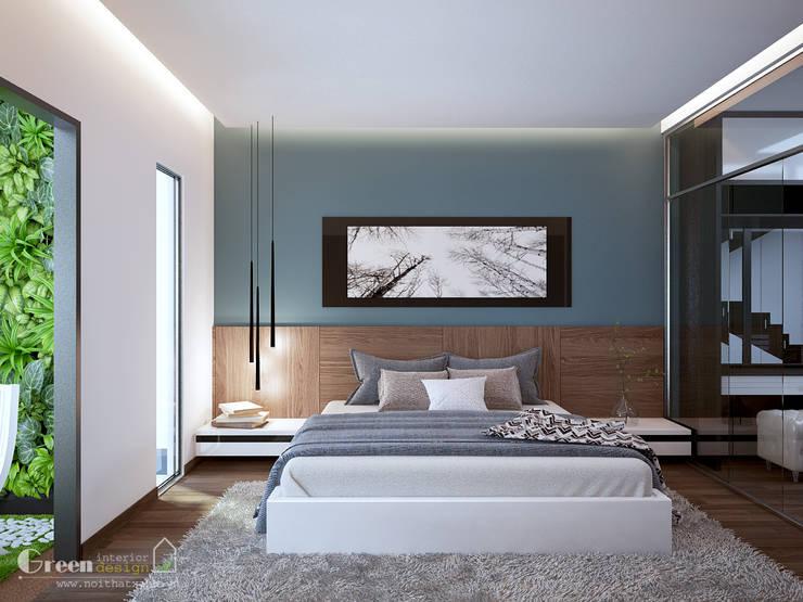 BIỆT THỰ VINHOME THĂNG LONG XANH NGÁT GIỮA LÒNG HÀ NỘI:  Bedroom by Green Interior