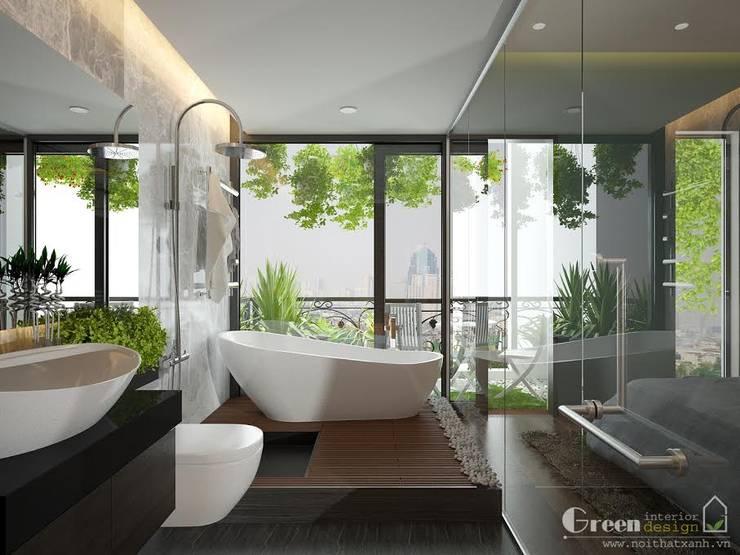 BIỆT THỰ VINHOME THĂNG LONG XANH NGÁT GIỮA LÒNG HÀ NỘI:  Bathroom by Green Interior