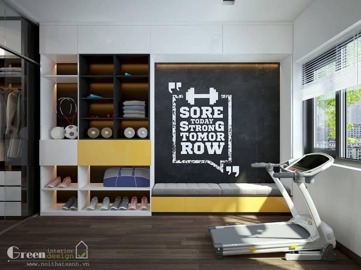 BIỆT THỰ VINHOME THĂNG LONG XANH NGÁT GIỮA LÒNG HÀ NỘI:  Gym by Green Interior