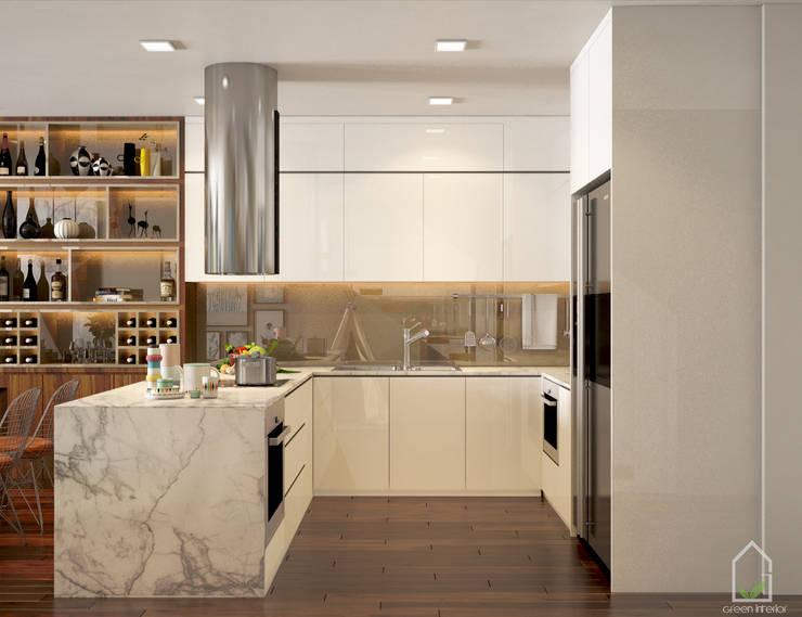 BIỆT THỰ TRÀN NGẬP MÀU SẮC TẠI ECOPARK:  Kitchen by Green Interior