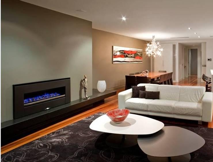 Chimenea para interiores: Salas de estilo  por Grupo Cinco Chimeneas,