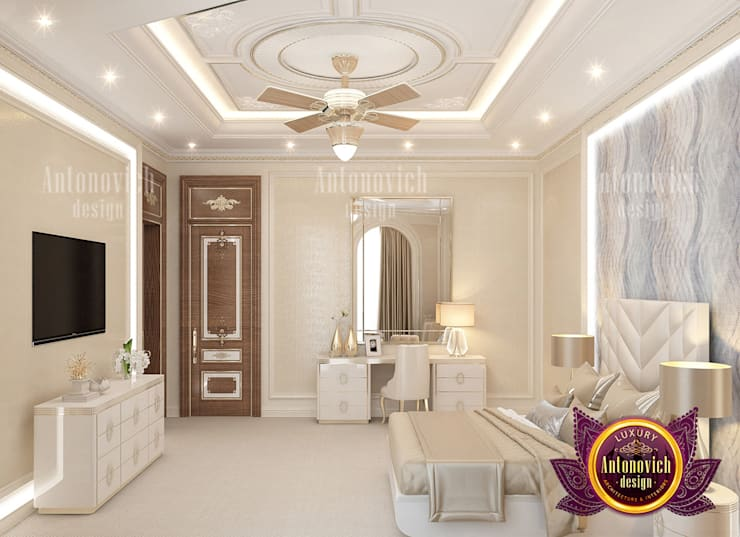 Extra Bedroom Design Ideas by Luxury Antonovich Design:   by Luxury Antonovich Design,
