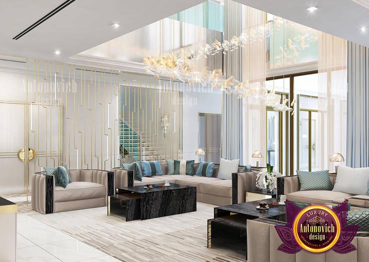 Grand Amazing Living Interior Design:   by Luxury Antonovich Design,