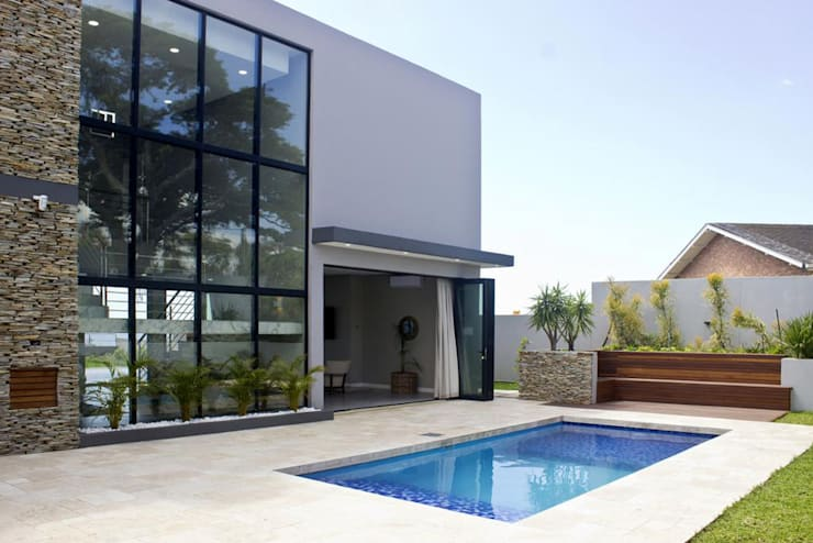 Pool Area and Back of building facade:  Garden Pool by Barnard & Associates - Architects,