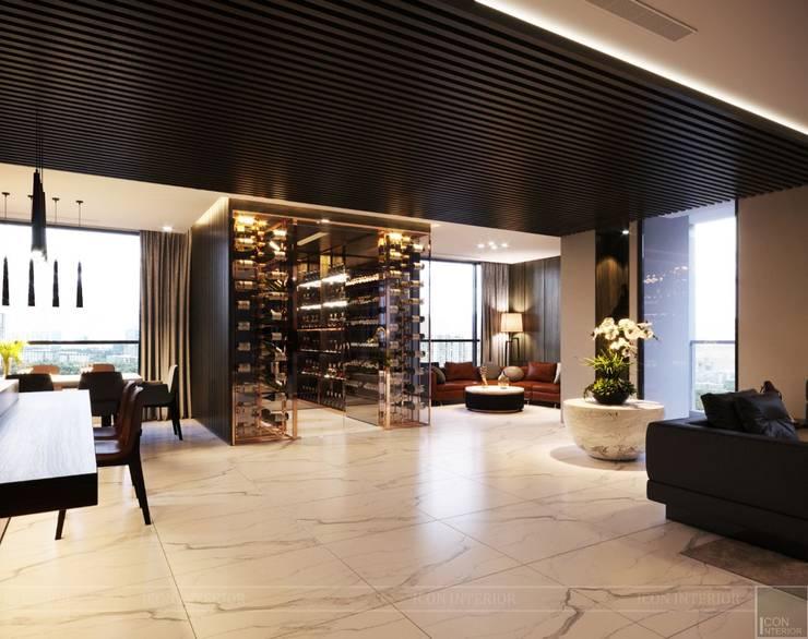 Nóng bỏng như THIẾT KẾ CĂN HỘ <q>KHỦNG</q> LANDMARK 1!:  Phòng khách by ICON INTERIOR