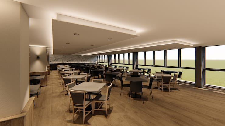 Dining Area:  Hotels by Mist Interior Studio,