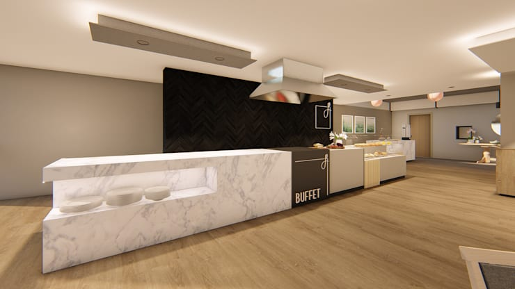 Buffet Server:  Hotels by Mist Interior Studio,
