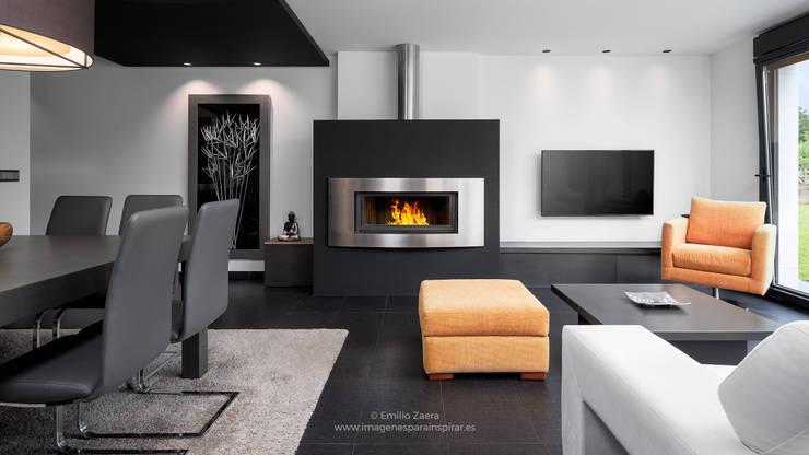 Salas / recibidores de estilo  por arQmonia estudio, Arquitectos de interior, Asturias, Moderno