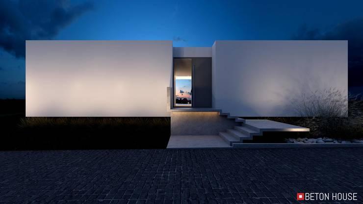 Casas unifamilares de estilo  de Beton House, Minimalista Hormigón