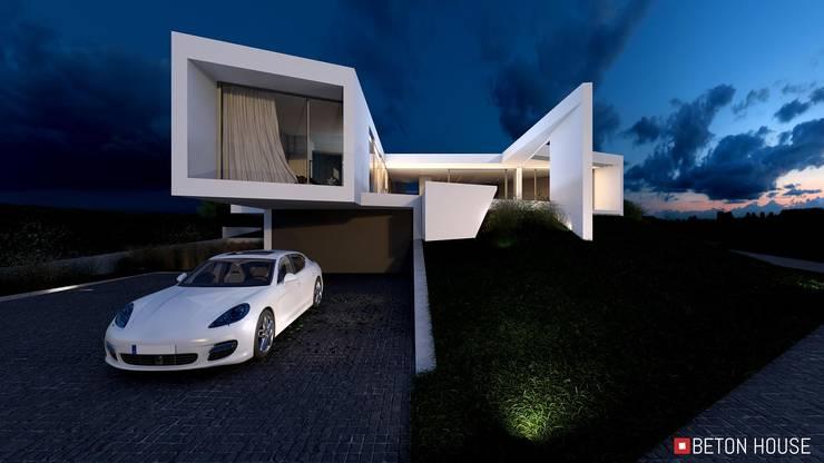 Casas de estilo  de Beton House, Minimalista