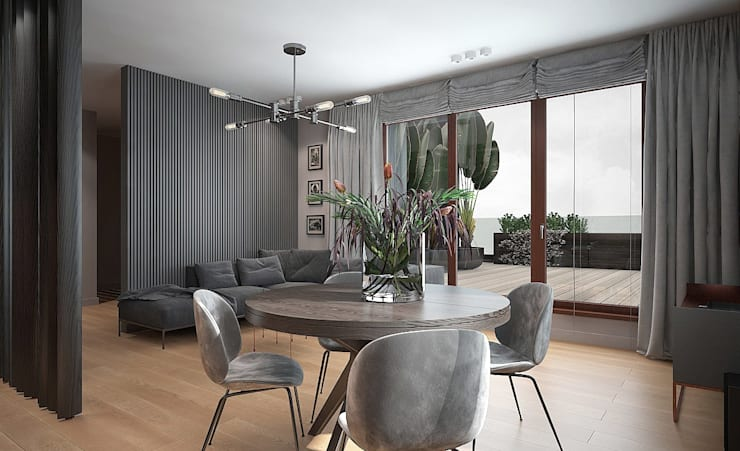 Living room by Studio architektury Loci, Modern