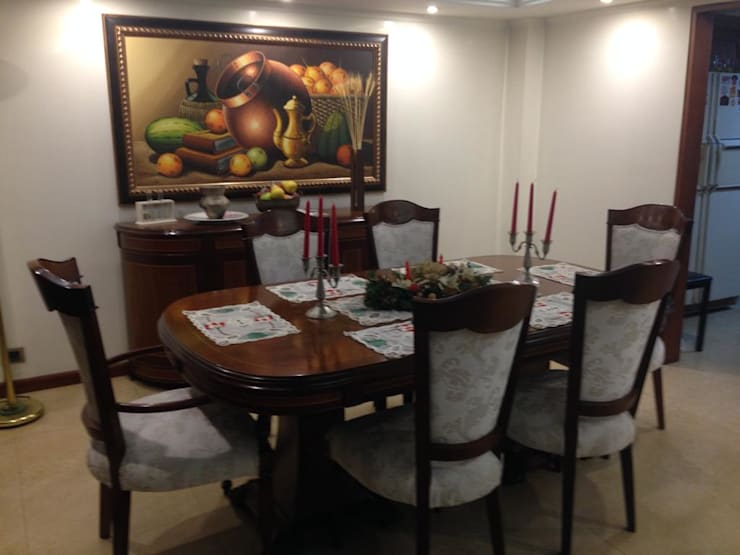 Comedor: Salones de estilo  por KAYROS ARQUITECTURA DISEÑO INTERIOR,