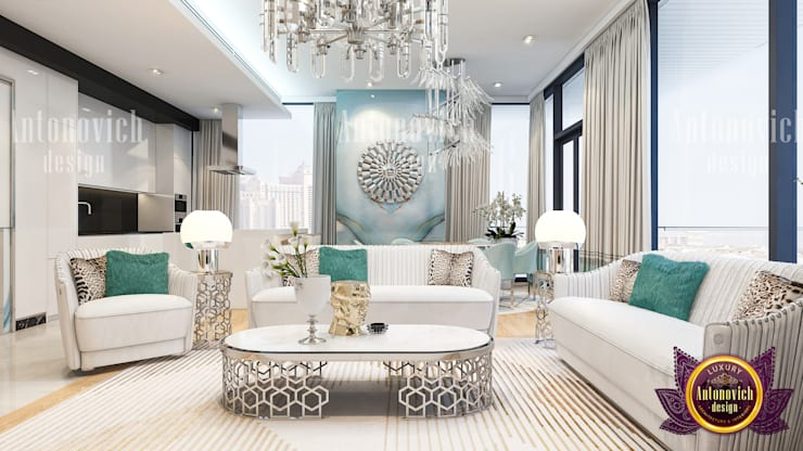 Adding Peauty To Your Living Room:   by Luxury Antonovich Design
