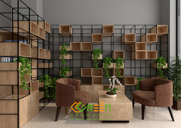 Văn phòng ShopHouse:  Office spaces & stores  by Công ty TNHH Thiết Kế Xây Dựng Xanh Hoàng Long,