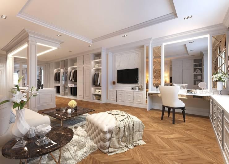 ผลงานการออกแบบห้องแต่งตัว:  ห้องแต่งตัว by Bcon Interior
