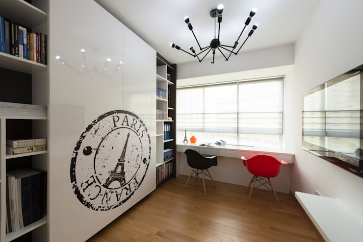 Modern Retreat At The Peak @ Toa Payoh:  Study/office by Space Factor Pte. Ltd, Modern