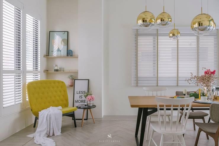 紛染.綿綿|Trochee of Tints:  客廳 by 理絲室內設計有限公司 Ris Interior Design Co., Ltd.