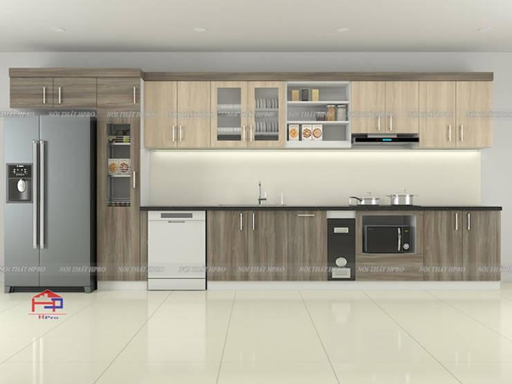Hình ảnh thiết kế 3D bộ tủ bếp laminate nhà chú Tuấn  - Nguyễn Sơn :  Kitchen by Nội thất Hpro,