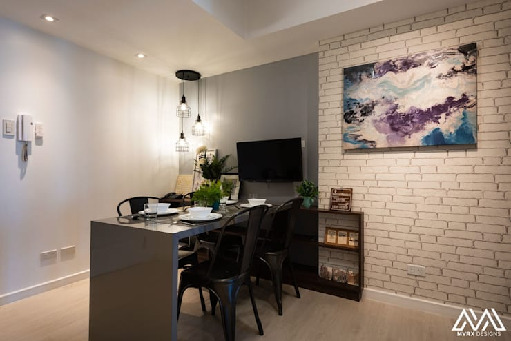 Nordic Urban:  Dining room by MVRX Designs