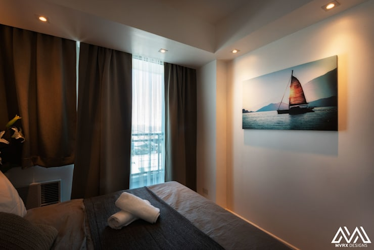 Nordic Urban:  Bedroom by MVRX Designs