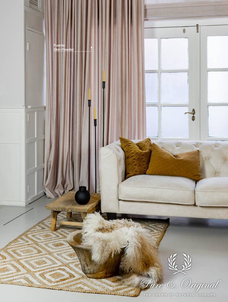 de Pure & Original Moderno Textil Ámbar/Dorado